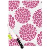 KESS InHouse Raspberry Blossoms by Pom Graphic Design Cutting Board