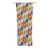 KESS InHouse Sequoyah Ovals Curtain Panels (Set of 2)