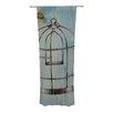 KESS InHouse Bird Cage Curtain Panels (Set of 2)