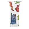 KESS InHouse Little Monsters Curtain Panels (Set of 2)