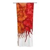 KESS InHouse Fall Splatter Curtain Panels (Set of 2)