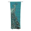 KESS InHouse Peacock Curtain Panels (Set of 2)