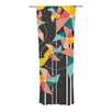 KESS InHouse Colorful Pinwheels Curtain Panels (Set of 2)
