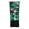 KESS InHouse Palm Trees and Stars Curtain Panels (Set of 2)