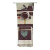 KESS InHouse Polaroid Love Curtain Panels (Set of 2)