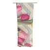 KESS InHouse Tulips and Chevrons Curtain Panels (Set of 2)