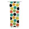 KESS InHouse Retro Dots Repeat Curtain Panels (Set of 2)