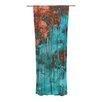 KESS InHouse Rusty Teal Curtain Panels (Set of 2)
