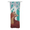 KESS InHouse Fox Forest Curtain Panels (Set of 2)