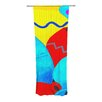 KESS InHouse Terracotta Curtain Panels (Set of 2)
