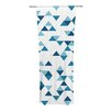 KESS InHouse Triangles Curtain Panels (Set of 2)