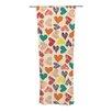 KESS InHouse Little Hearts Curtain Panels (Set of 2)