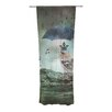 KESS InHouse Umbrella Bird Curtain Panels (Set of 2)