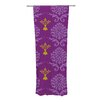 KESS InHouse Purple Crowns Curtain Panels (Set of 2)