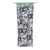 KESS InHouse Flowers on Green Curtain Panels (Set of 2)