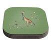 KESS InHouse Giraffe by Carina Povarchik Coaster (Set of 4)