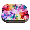 KESS InHouse Technicolor Clouds by Caleb Troy Coaster (Set of 4)