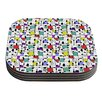 KESS InHouse My Happy Squares by Julia Grifol Coaster (Set of 4)