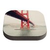 KESS InHouse Golden Gate by Bree Madden Coaster (Set of 4)