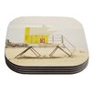 KESS InHouse Tower by Bree Madden Coaster (Set of 4)