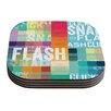 KESS InHouse FLASH Coaster (Set of 4)