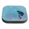 KESS InHouse Turtle Tuba II by Graham Curran Coaster (Set of 4)