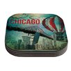 KESS InHouse Chicago by iRuz33 Coaster (Set of 4)