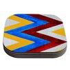 KESS InHouse Zig Zag by Brittany Guarino Coaster (Set of 4)