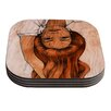 KESS InHouse Girl by Brittany Guarino Coaster (Set of 4)