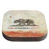 KESS InHouse Cali Love by iRuz33 Coaster (Set of 4)