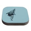 KESS InHouse Shark Record II by Graham Curran Coaster (Set of 4)