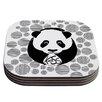 KESS InHouse Panda Coaster (Set of 4)