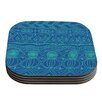 KESS InHouse Beach Blanket Confusion by Catherine Holcombe Coaster (Set of 4)