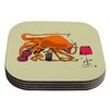 KESS InHouse Playful Octopus by Marianna Tankelevich Coaster (Set of 4)