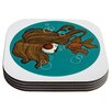 KESS InHouse Goldfish by Jaidyn Erickson Coaster (Set of 4)