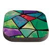 KESS InHouse Stain Glass 1 by Theresa Giolzetti Coaster (Set of 4)