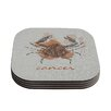KESS InHouse Cancer by Belinda Gillies Coaster (Set of 4)
