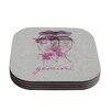 KESS InHouse Gemini by Belinda Gillies Coaster (Set of 4)