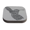 KESS InHouse Hummingbird by Belinda Gillies Coaster (Set of 4)