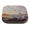KESS InHouse A New Perspective by Rachel Kokko Coaster (Set of 4)