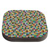 KESS InHouse Colour Blocks by Project M Coaster (Set of 4)