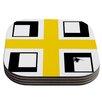 KESS InHouse Across The White by Oriana Cordero Coaster (Set of 4)