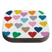 KESS InHouse Colorful Hearts by Project M Coaster (Set of 4)