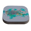 KESS InHouse Hunting For Jazz by Kira Crees Coaster (Set of 4)