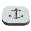 KESS InHouse Anchor by Suzanne Carter Coaster (Set of 4)