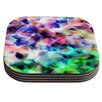 KESS InHouse Party by Gabriela Fuente Pastel Abstract Coaster (Set of 4)