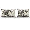 KESS InHouse Java Leaf Pillowcase