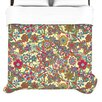 "KESS InHouse ""My Butterflies & Flowers in Yellow"" Woven Comforter Duvet Cover"