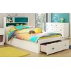 South Shore Little Monsters Twin Mate's Bed with Stroage