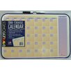 "Dooley Boards Inc Assorted Designs Calendar Dry Erase 11"" x 1' 5"" Whiteboard"